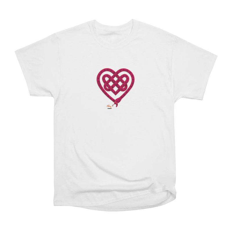 Knotted Heart Women's Heavyweight Unisex T-Shirt by JesFortner