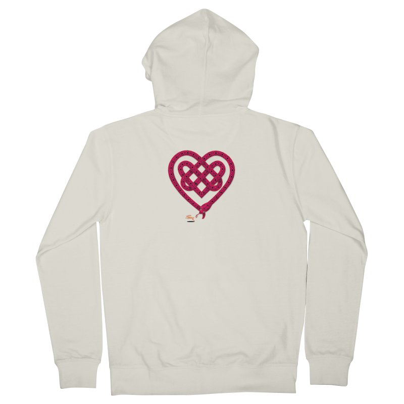 Knotted Heart Women's French Terry Zip-Up Hoody by JesFortner