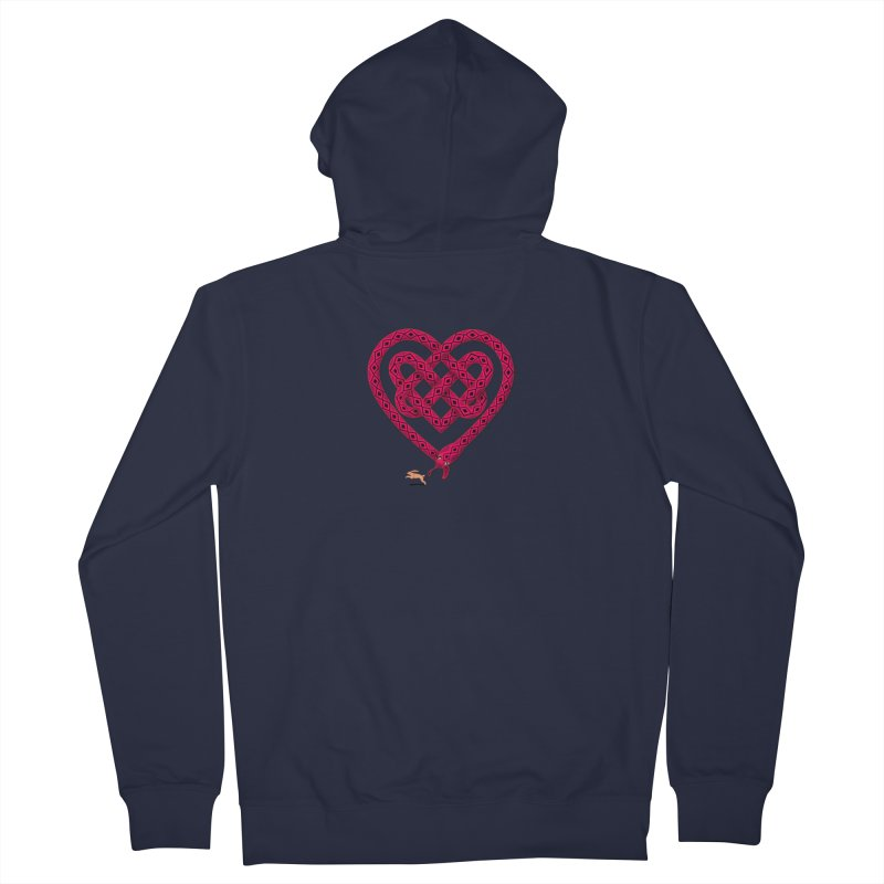 Knotted Heart Men's French Terry Zip-Up Hoody by JesFortner