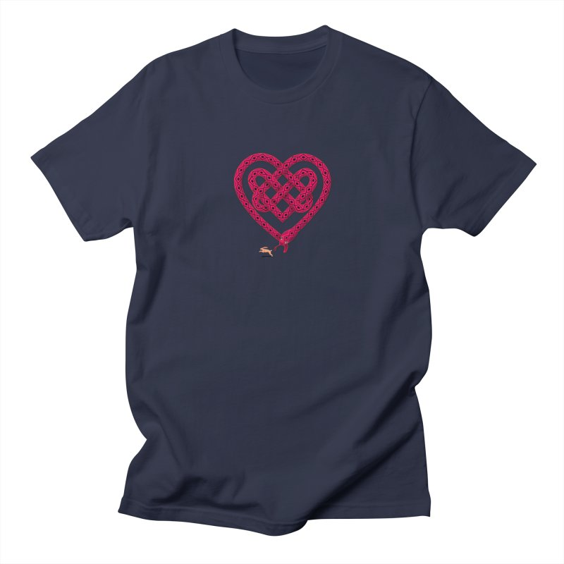 Knotted Heart Men's Regular T-Shirt by JesFortner