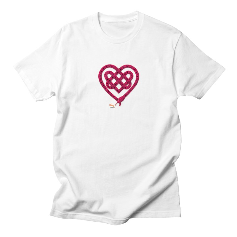 Knotted Heart Men's  by JesFortner