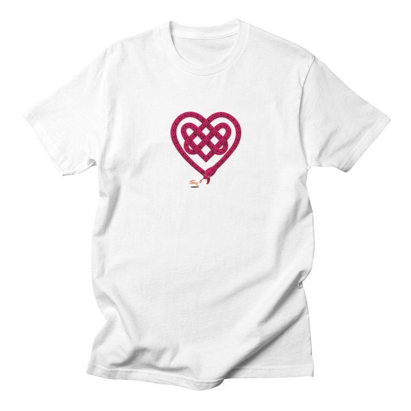 Knotted Heart Men's Regular T-Shirt by JesFortner