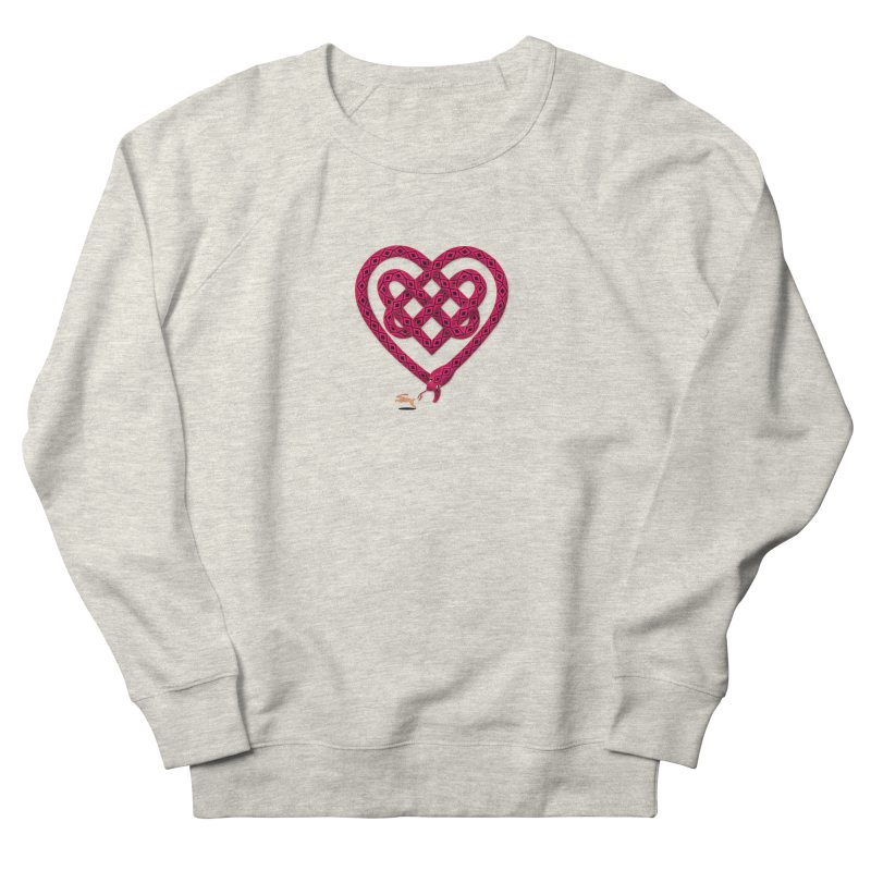 Knotted Heart Women's French Terry Sweatshirt by JesFortner