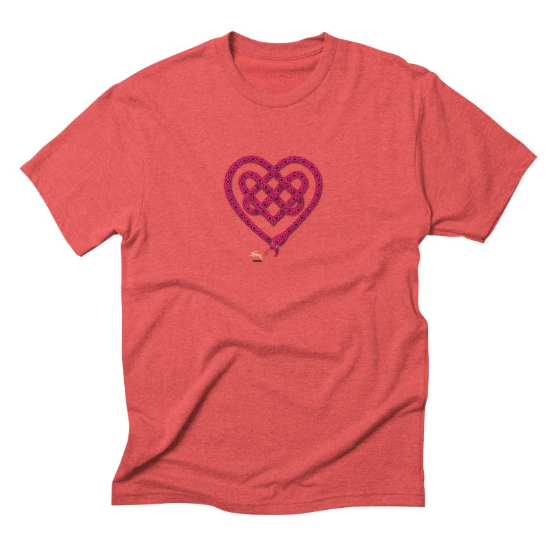 Knotted Heart Men's Triblend T-Shirt by JesFortner