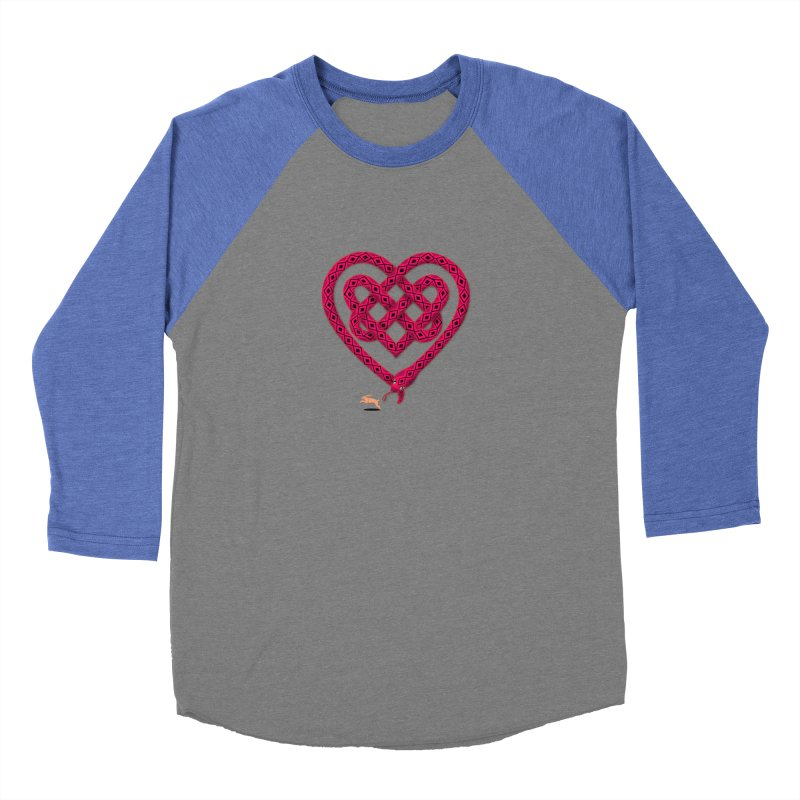 Knotted Heart Women's Baseball Triblend Longsleeve T-Shirt by JesFortner