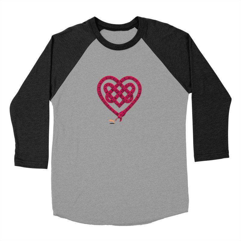 Knotted Heart Men's Baseball Triblend T-Shirt by JesFortner