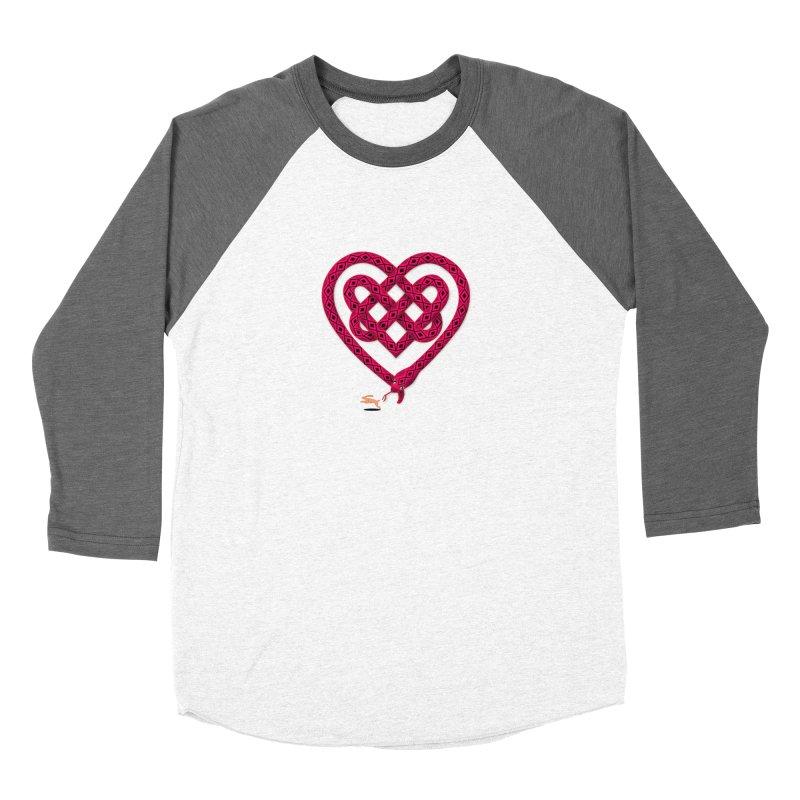 Knotted Heart Men's Baseball Triblend Longsleeve T-Shirt by JesFortner