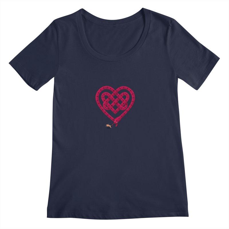Knotted Heart Women's Regular Scoop Neck by JesFortner