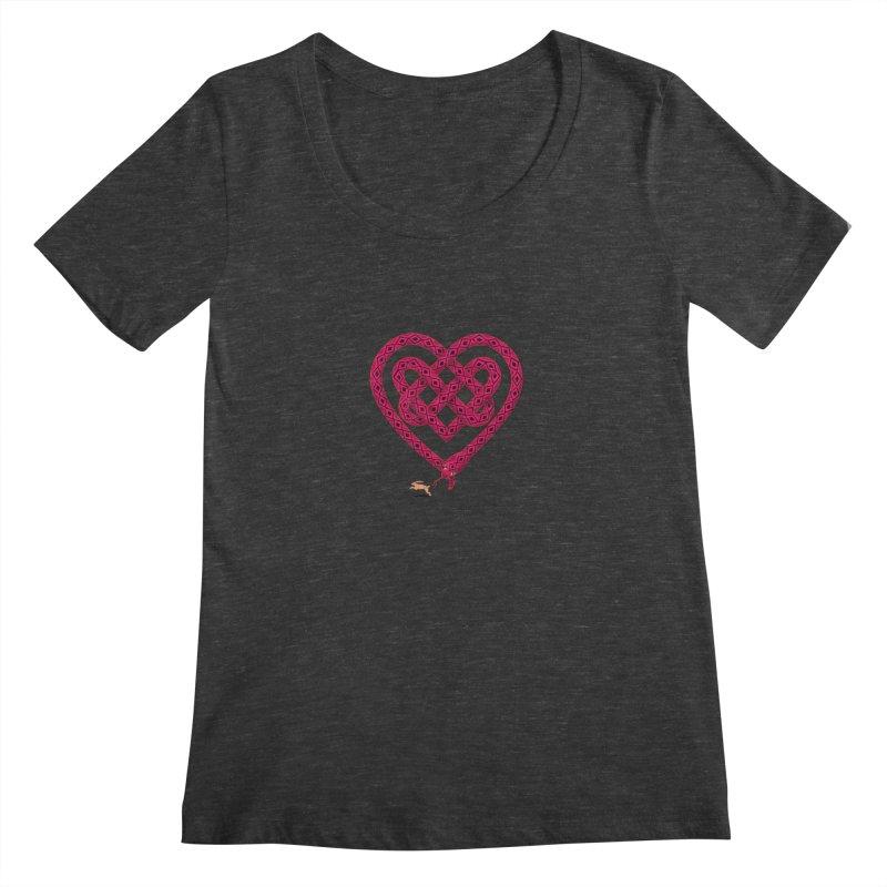 Knotted Heart Women's Scoopneck by JesFortner