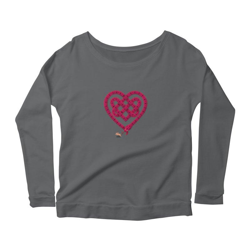 Knotted Heart Women's Scoop Neck Longsleeve T-Shirt by JesFortner
