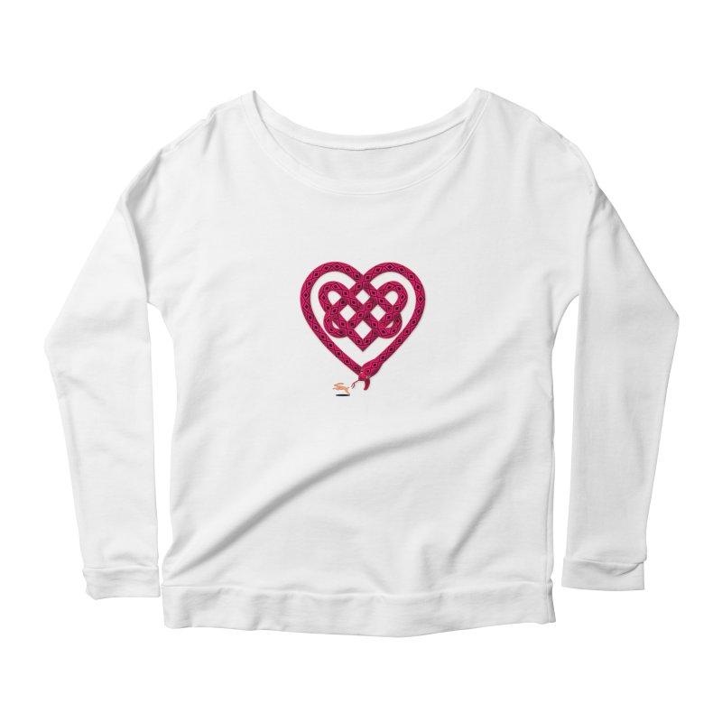 Knotted Heart Women's Longsleeve Scoopneck  by JesFortner