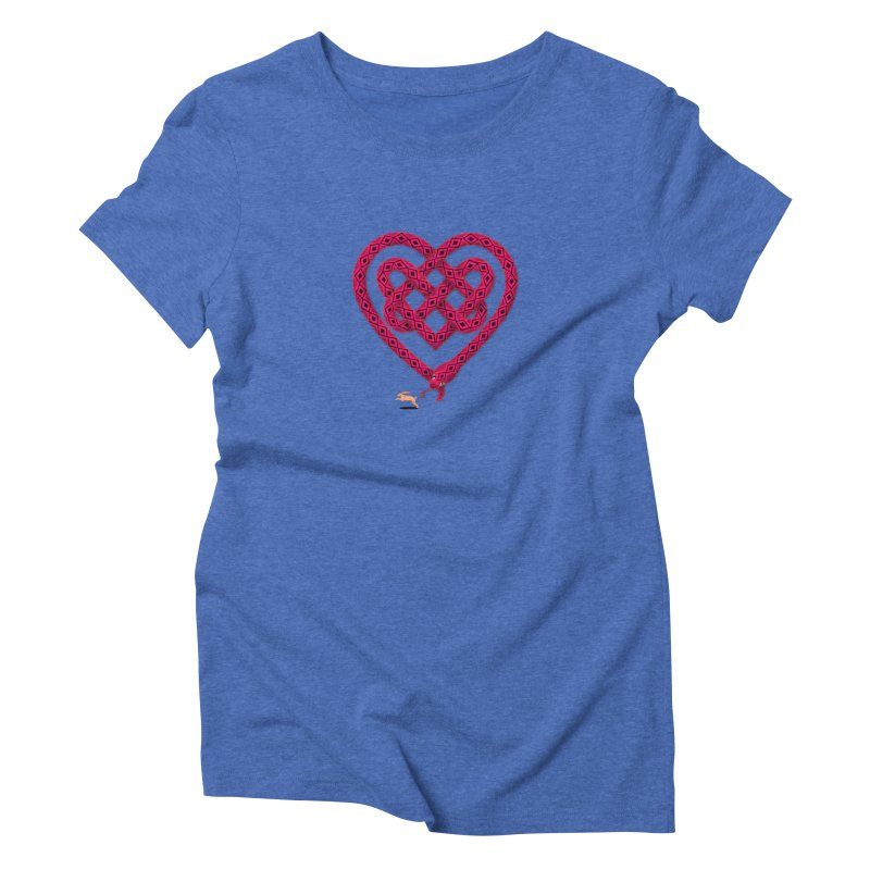 Knotted Heart Women's Triblend T-Shirt by JesFortner