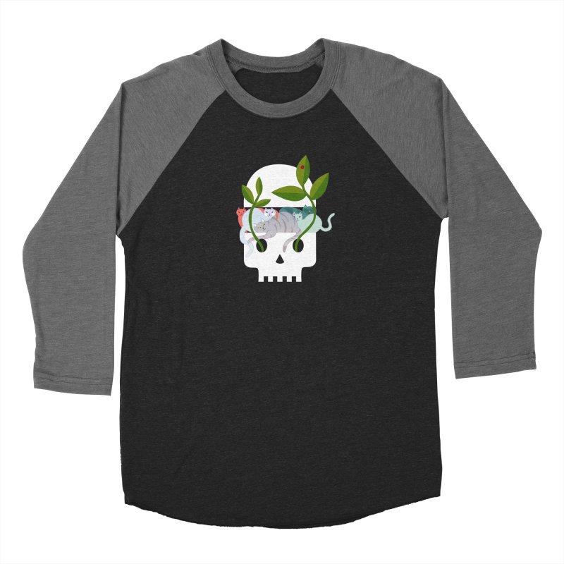 Skull Cats Women's Baseball Triblend Longsleeve T-Shirt by JesFortner
