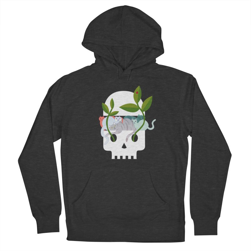 Skull Cats Men's French Terry Pullover Hoody by JesFortner