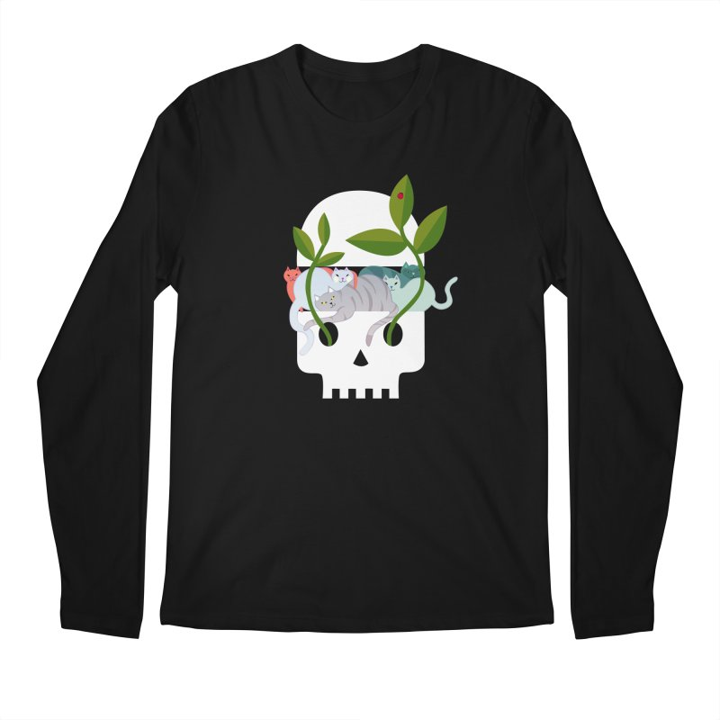Skull Cats Men's Regular Longsleeve T-Shirt by JesFortner