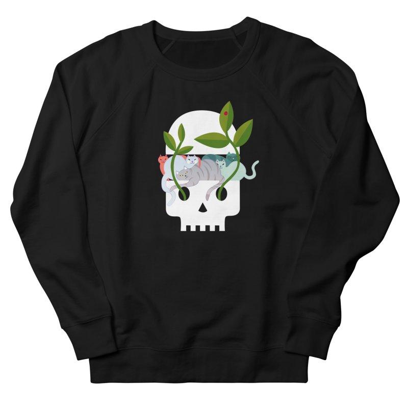 Skull Cats Women's French Terry Sweatshirt by JesFortner