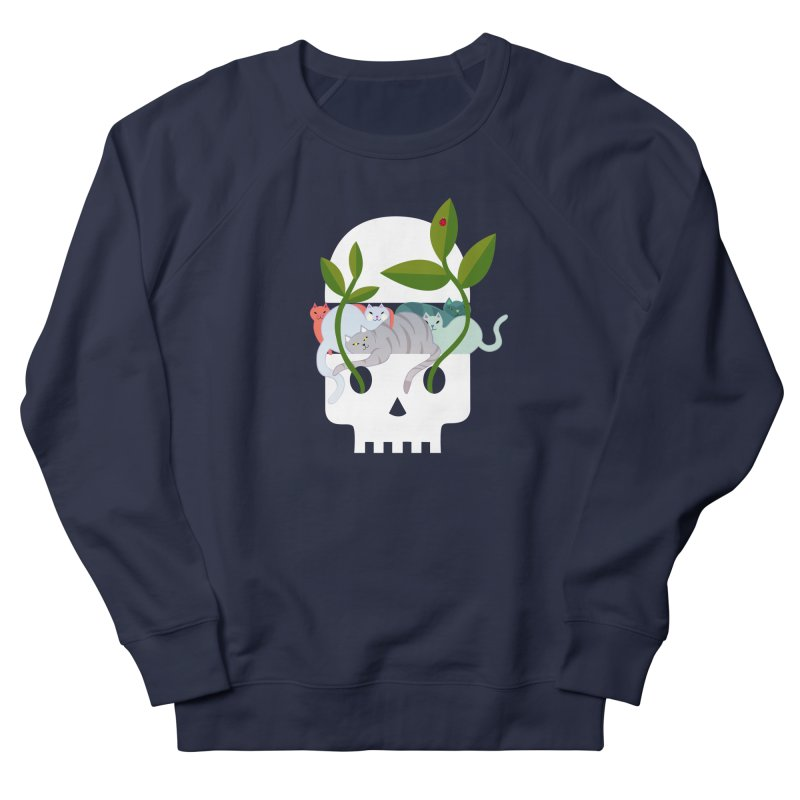 Skull Cats Women's French Terry Sweatshirt by JesFortner
