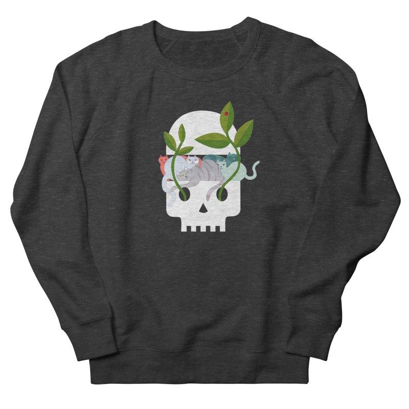 Skull Cats Men's French Terry Sweatshirt by JesFortner