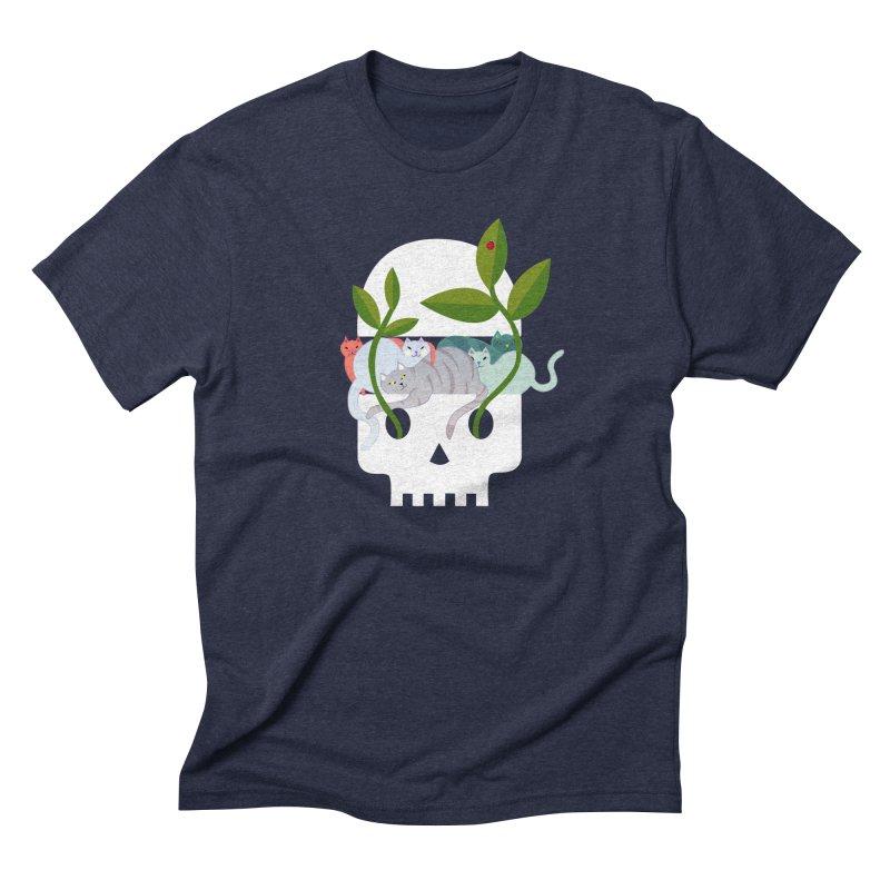 Skull Cats Men's Triblend T-Shirt by JesFortner
