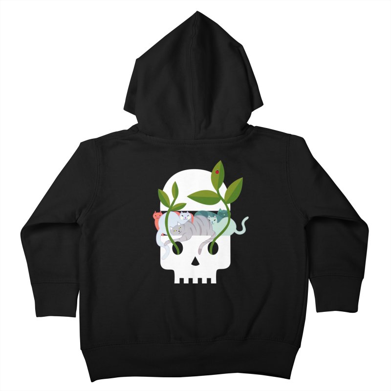 Skull Cats Kids Toddler Zip-Up Hoody by JesFortner