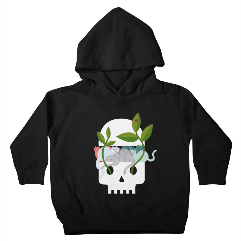 Skull Cats Kids Toddler Pullover Hoody by JesFortner