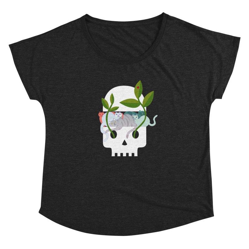 Skull Cats Women's Dolman by JesFortner