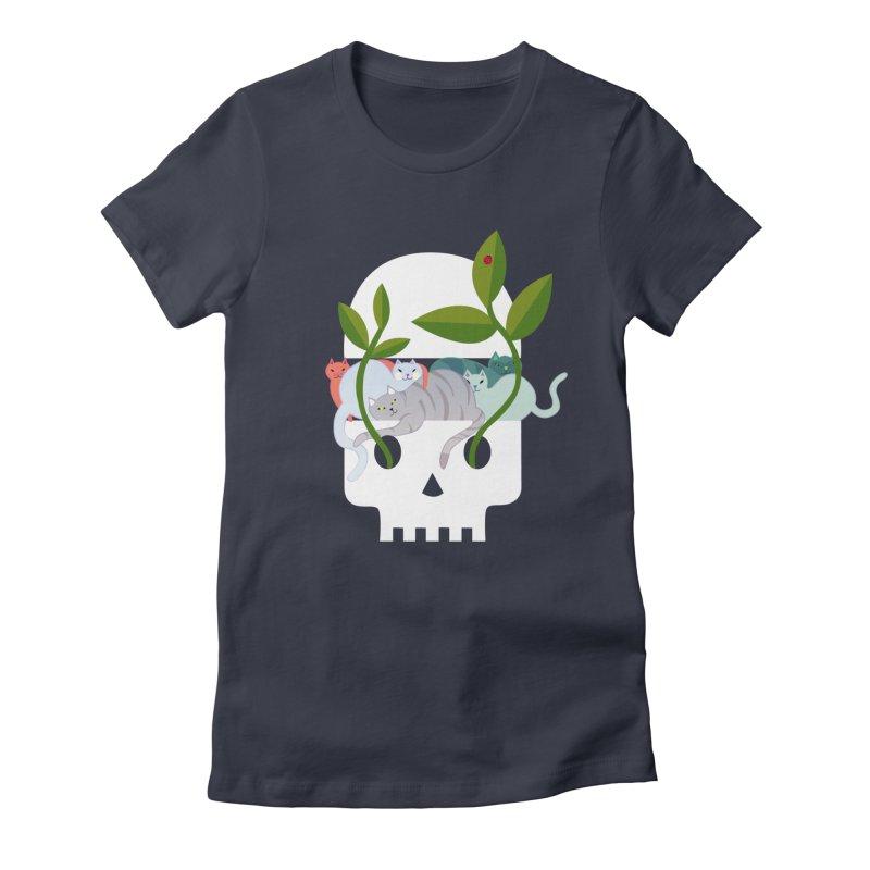 Skull Cats Women's T-Shirt by JesFortner