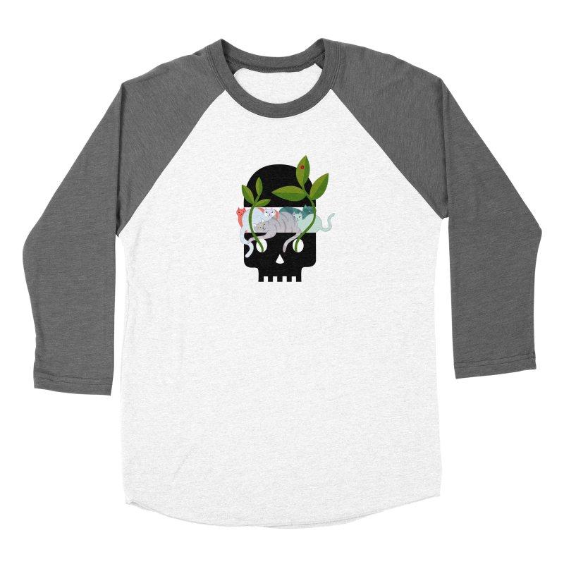 Skull Cats Black Women's Longsleeve T-Shirt by JesFortner