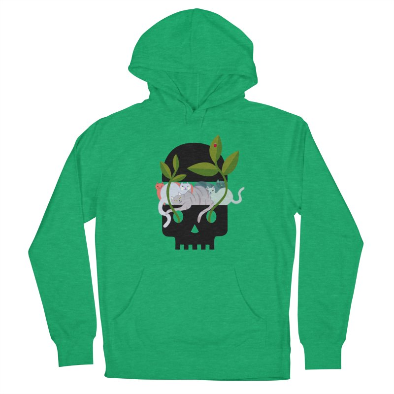 Skull Cats Black Men's Pullover Hoody by JesFortner