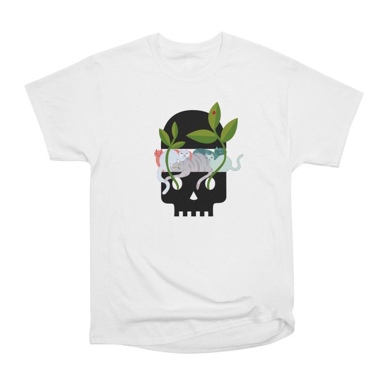 Skull Cats Black Men's Classic T-Shirt by JesFortner