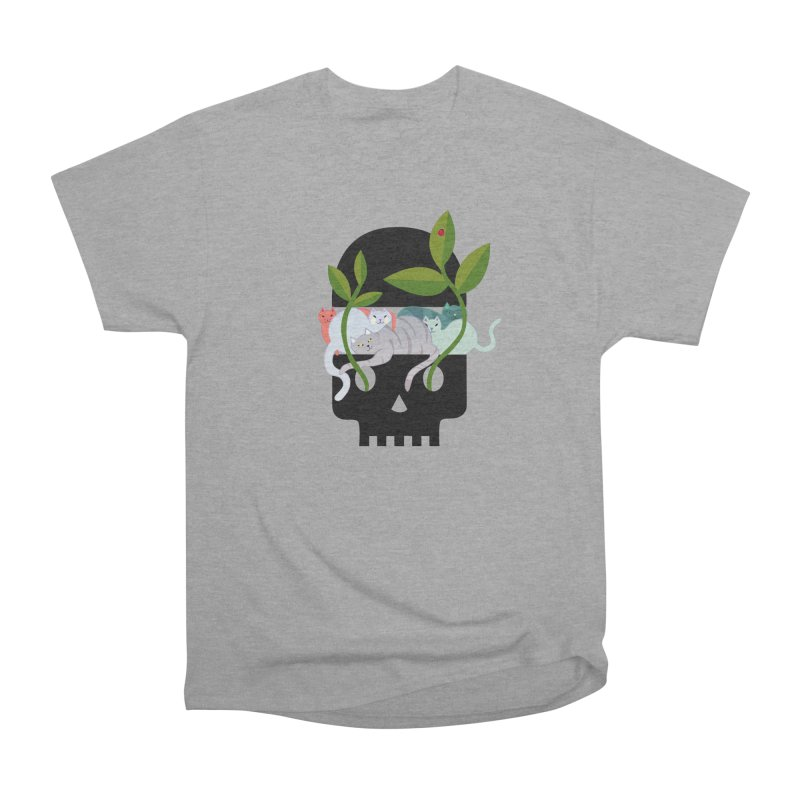 Skull Cats Black Men's Classic T-Shirt by JesFortner