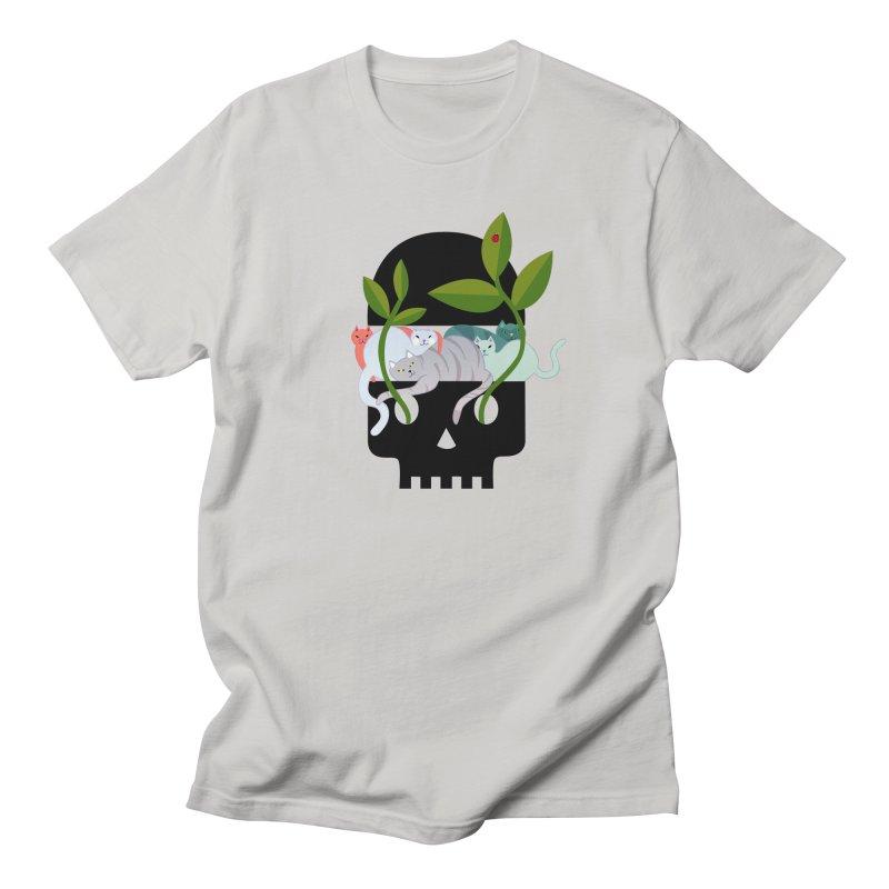 Skull Cats Black Women's Unisex T-Shirt by JesFortner