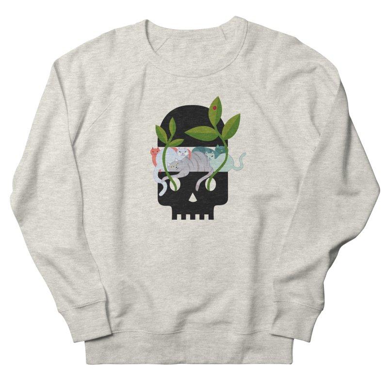 Skull Cats Black Women's French Terry Sweatshirt by JesFortner