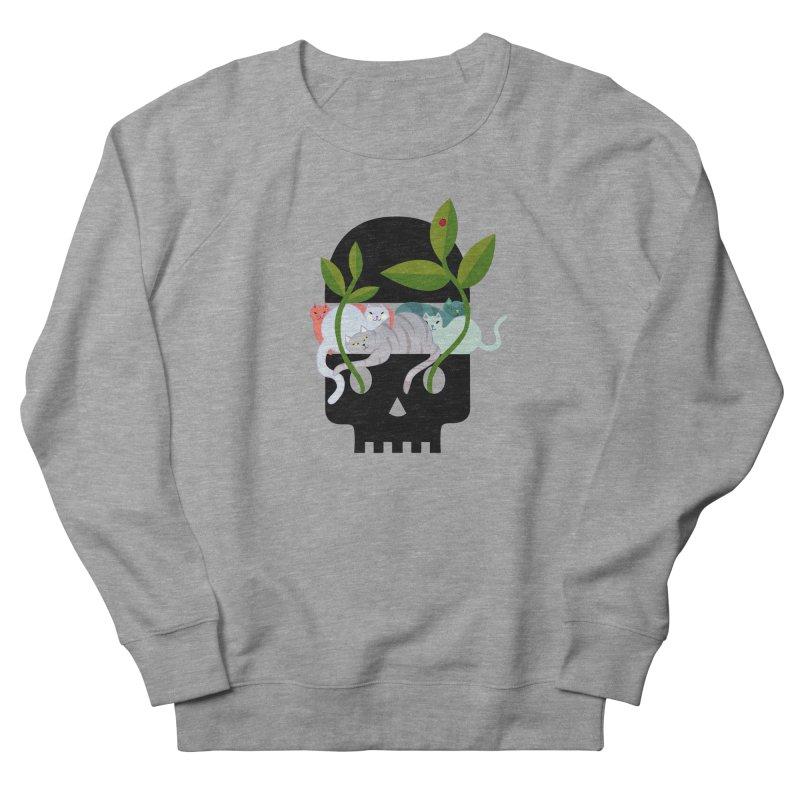 Skull Cats Black Men's French Terry Sweatshirt by JesFortner