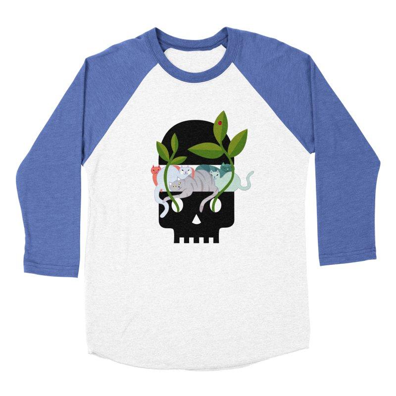 Skull Cats Black Women's Baseball Triblend Longsleeve T-Shirt by JesFortner