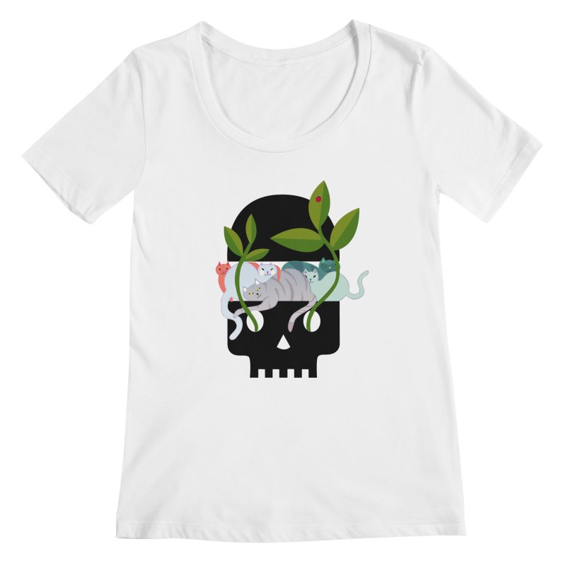 Skull Cats Black Women's  by JesFortner