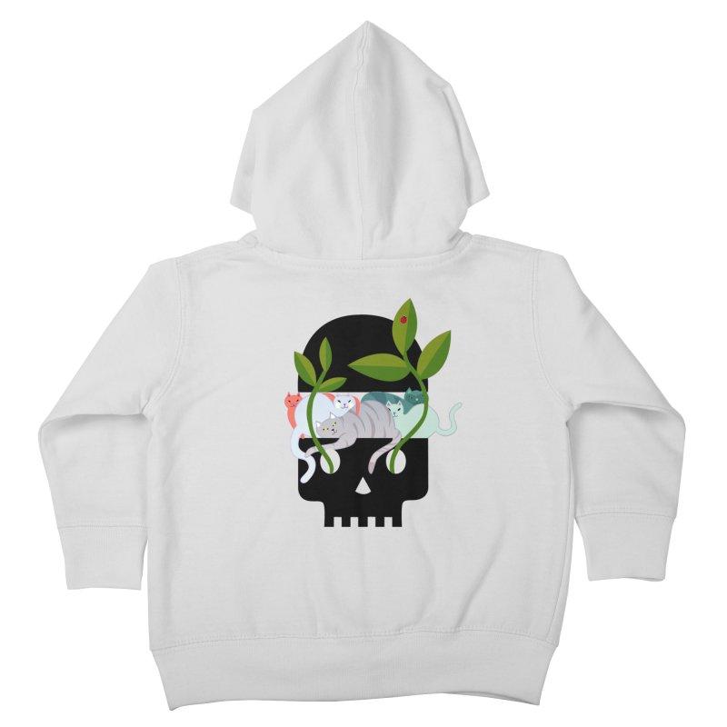 Skull Cats Black Kids  by JesFortner