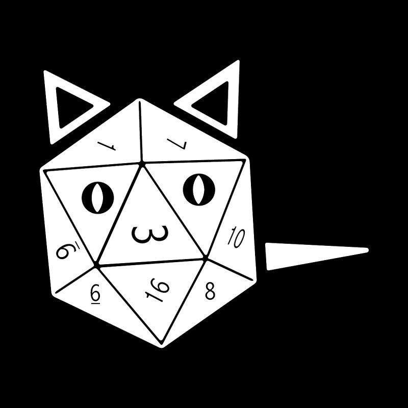 D20 Cat   by n3kogami prints