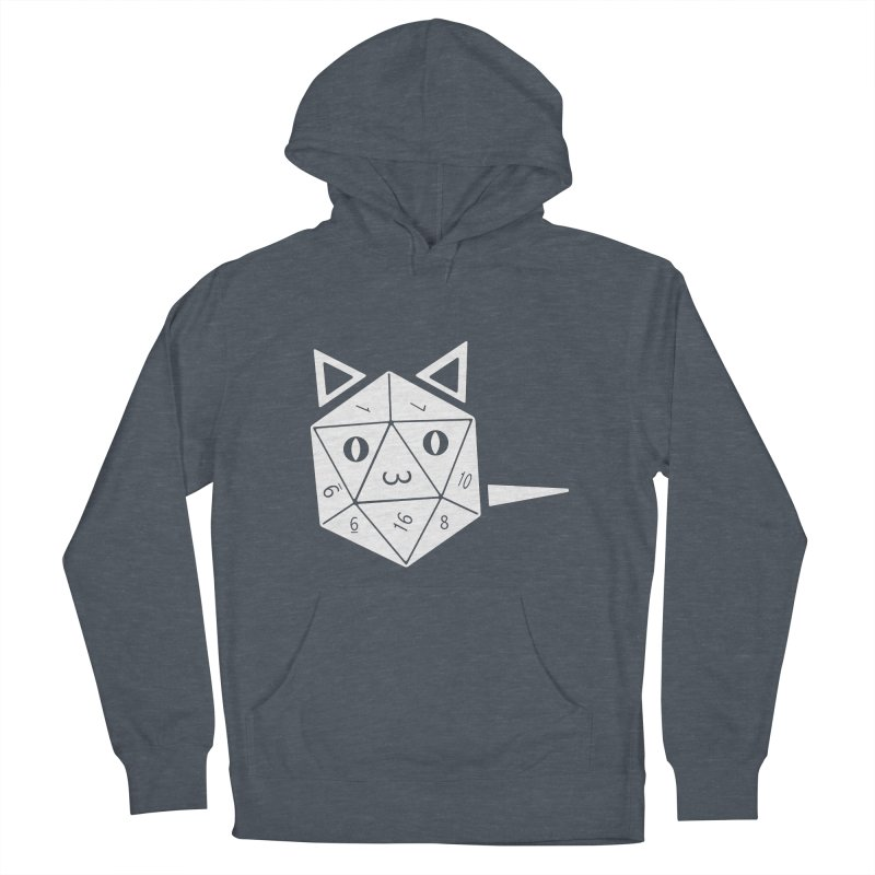 D20 Cat Women's French Terry Pullover Hoody by n3kogami prints