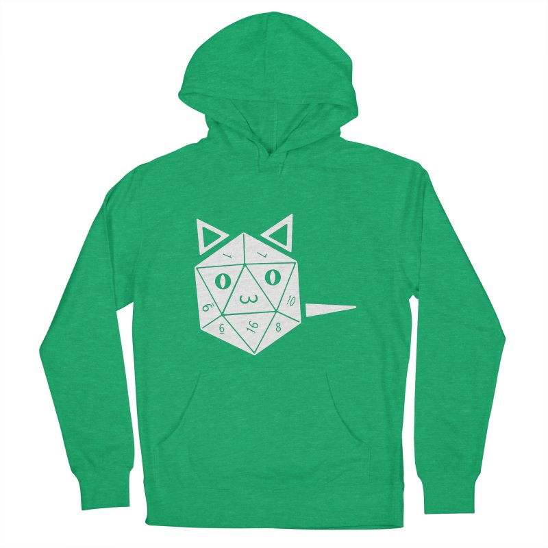D20 Cat Men's French Terry Pullover Hoody by n3kogami prints