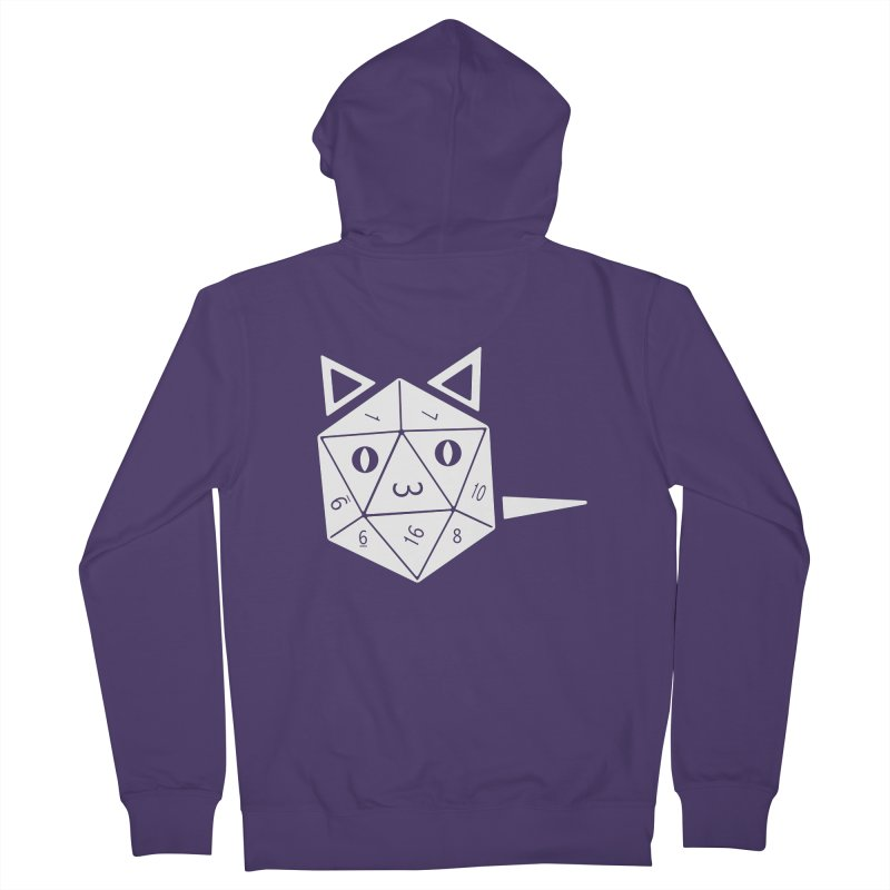 D20 Cat Women's French Terry Zip-Up Hoody by n3kogami prints