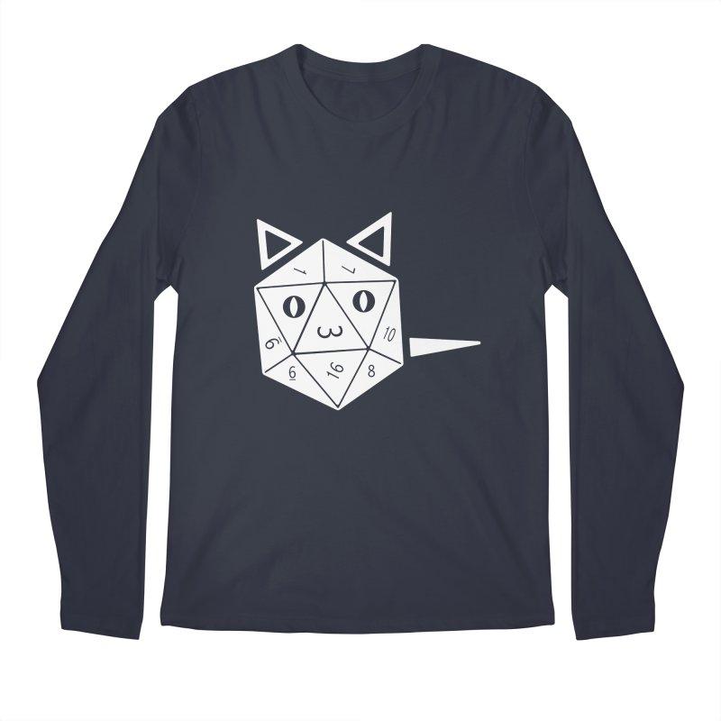 D20 Cat Men's Regular Longsleeve T-Shirt by n3kogami prints