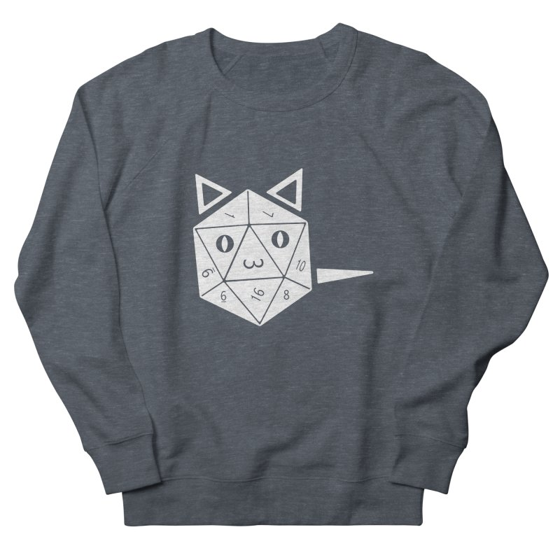 D20 Cat Women's French Terry Sweatshirt by n3kogami prints