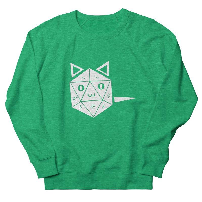 D20 Cat Men's French Terry Sweatshirt by n3kogami prints
