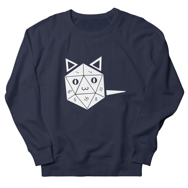 D20 Cat Men's French Terry Sweatshirt by n3kogami prints