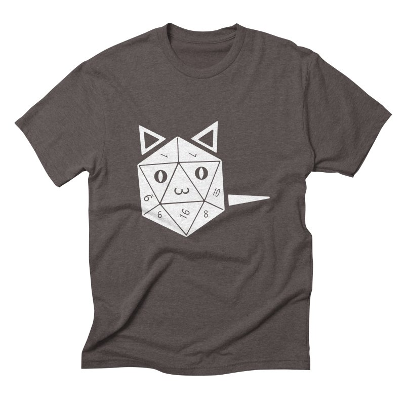 D20 Cat Men's Triblend T-Shirt by n3kogami prints