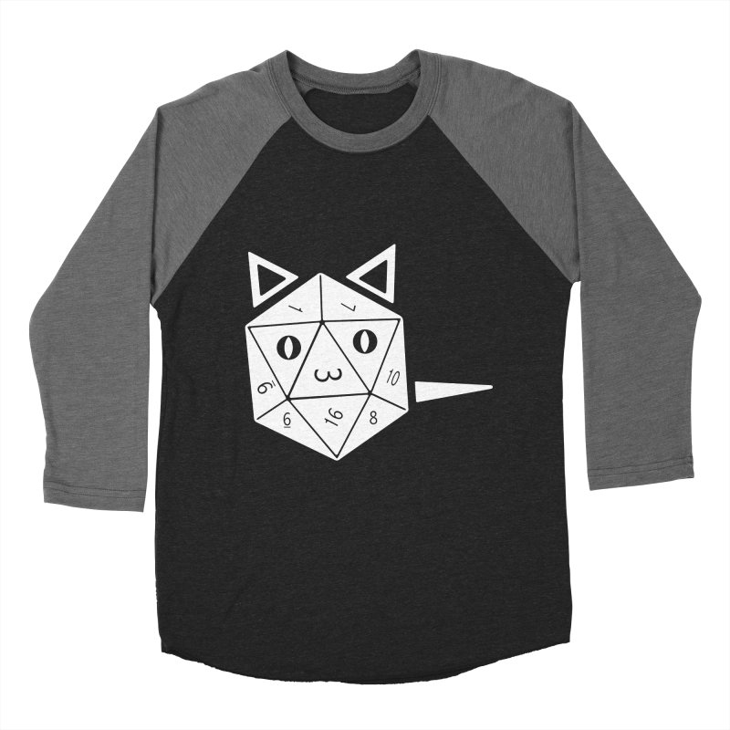 D20 Cat Women's Baseball Triblend Longsleeve T-Shirt by n3kogami prints