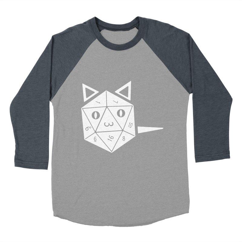 D20 Cat Women's Baseball Triblend Longsleeve T-Shirt by n3kogami prints