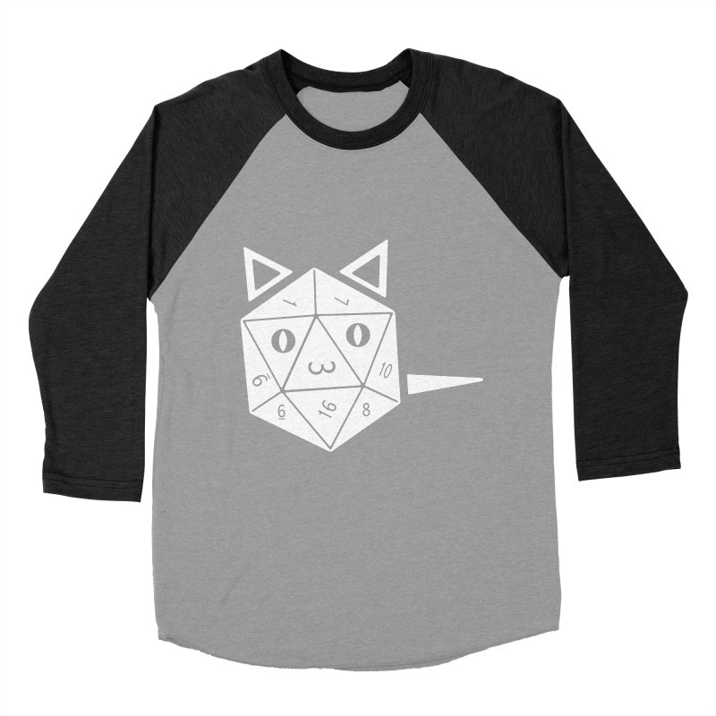 D20 Cat Men's Baseball Triblend Longsleeve T-Shirt by n3kogami prints