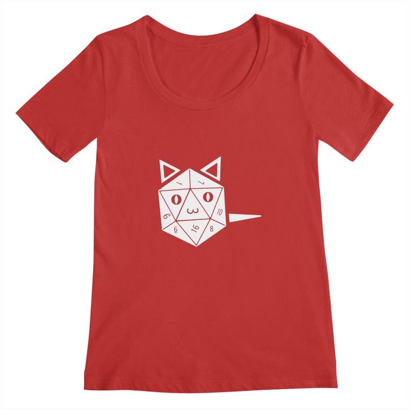 D20 Cat Women's Regular Scoop Neck by n3kogami prints